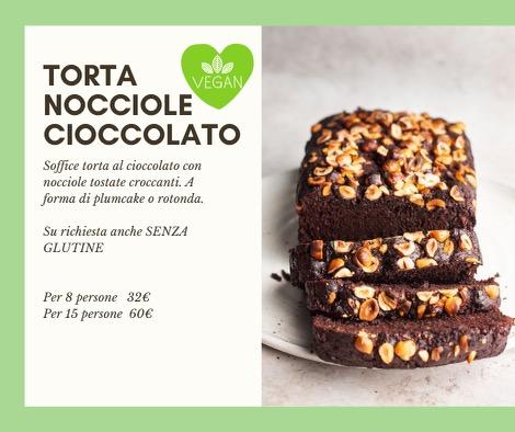 Torta Nocciole Cioccolato Vegan